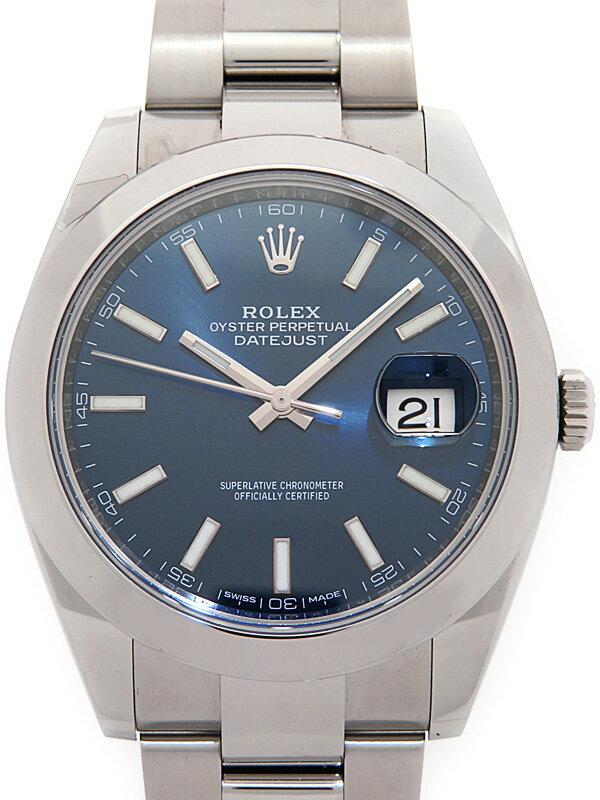 【ROLEX】ロレックス『デイトジャスト41』126300 ランダム製番 メンズ 自動巻き 12ヶ月保証【中古】