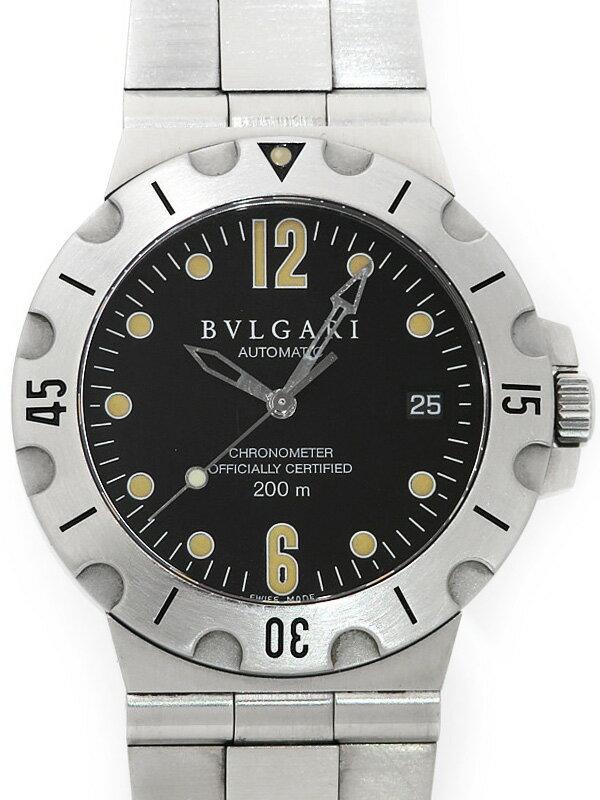 【BVLGARI】ブルガリ『ディアゴノ スクーバ』SD38S メンズ 自動巻き 1ヶ月保証【中古】