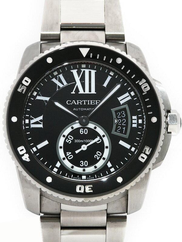 【CARTIER】【'17年購入】カルティエ『カリブル ドゥ カルティエ ダイバー』W7100057 メンズ 自動巻き 6ヶ月保証【中古】