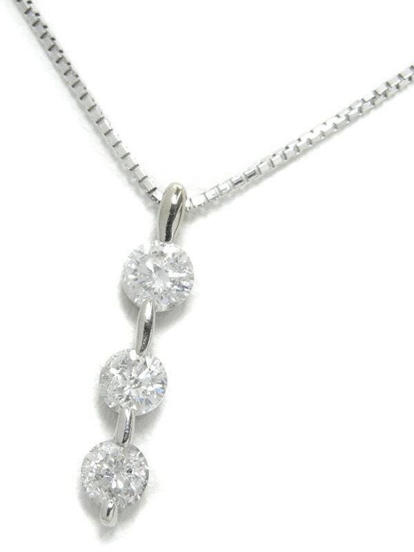 セレクトジュエリー『K18WGネックレス ダイヤモンド0.5ct』1週間保証【中古】