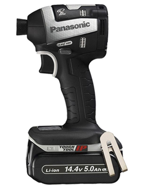 【Panasonic】パナソニック『充電インパクトドライバー』EZ75A7LJ2F-H グレー 14.4V 5.0Ah×2 18V対応 充電器付 1週間保証【中古】