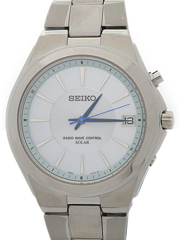 【SEIKO】【美品】セイコー『スピリット』SBTM089 4N****番 メンズ ソーラー電波クォーツ 1週間保証【中古】