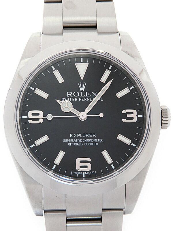 【ROLEX】【'11年購入】【OH・仕上済】ロレックス『エクスプローラー1』214270 ランダム番 メンズ 自動巻き 12ヶ月保証【中古】