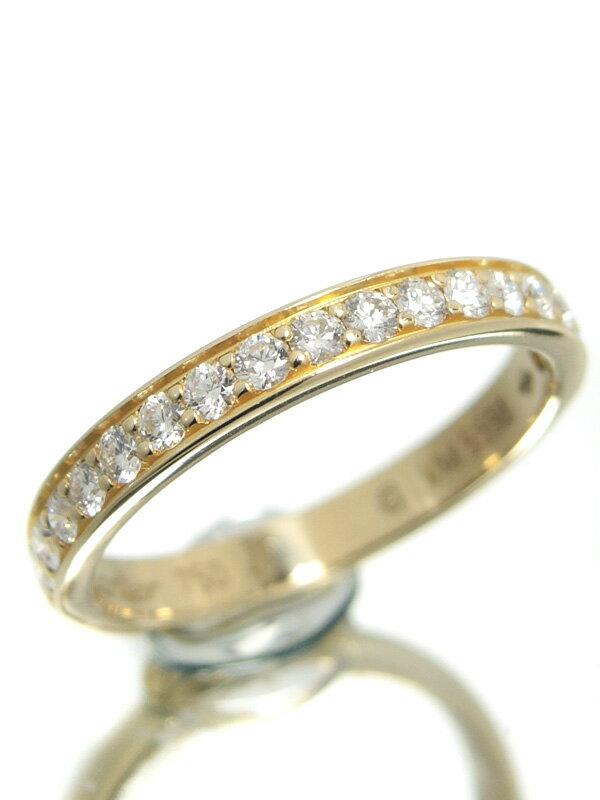 【Cartier】【仕上済】カルティエ『K18YGリング ダイヤモンド ハーフエタニティ』7号 1週間保証【中古】