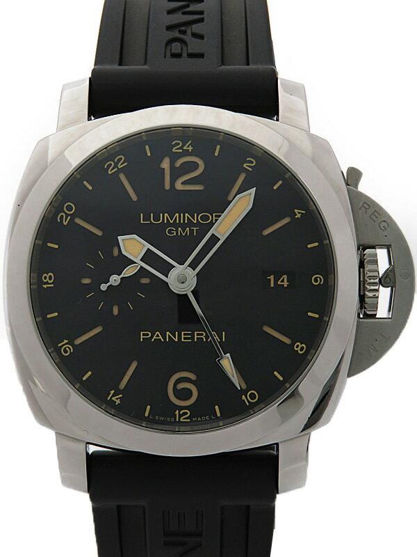 【PANERAI】【裏スケ】パネライ『ルミノール 1950 3デイズ GMT』PAM00531 Q番'14年製 メンズ 自動巻き 6ヶ月保証【中古】