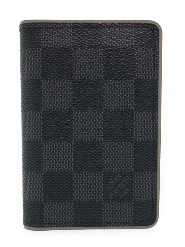 【LOUIS VUITTON】ルイヴィトン『グラフィット オーガナイザー ドゥ ポッシュ』N63256 メンズ カードケース 1週間保証【中古】