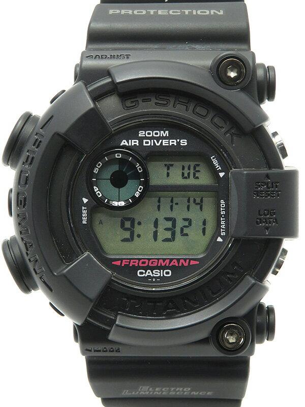 【CASIO】【G-SHOCK】カシオ『Gショック メンインブラック フロッグマン』DW-8200Z-1T メンズ クォーツ 1週間保証【中古】