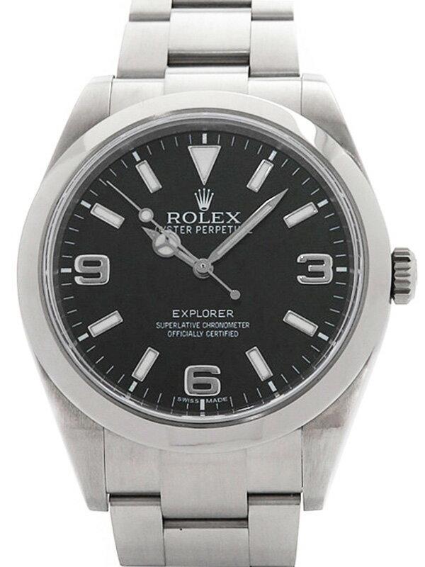【ROLEX】【'15年購入】ロレックス『エクスプローラー1』214270 ランダム番 メンズ 自動巻き 12ヶ月保証【中古】