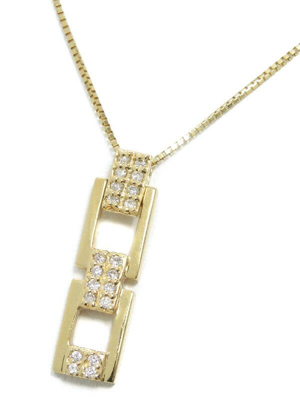 セレクトジュエリー『K18YGネックレス ダイヤモンド0.16ct』1週間保証【中古】