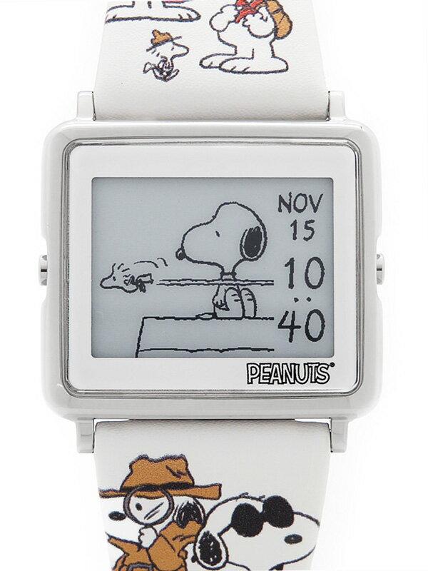 【EPSON】【Many Faces of Snoopy】エプソン『スマートキャンバス ピーナッツ』W1-PN30810 ボーイズ クォーツ 1週間保証【中古】