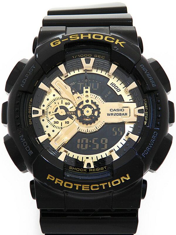 【CASIO】【G-SHOCK】カシオ『Gショック ブラック×ゴールドシリーズ』GA-110GB-1AJF メンズ クォーツ 1週間保証【中古】