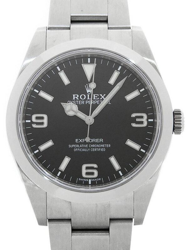 【ROLEX】【'17年購入】【内部点検済】ロレックス『エクスプローラー1』214270 ランダム番 メンズ 自動巻き 12ヶ月保証【中古】
