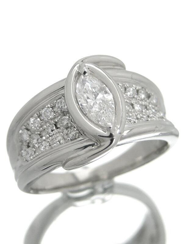 【仕上済】セレクトジュエリー『PT900リング ダイヤモンド0.404ct 0.30ct』13号 1週間保証【中古】