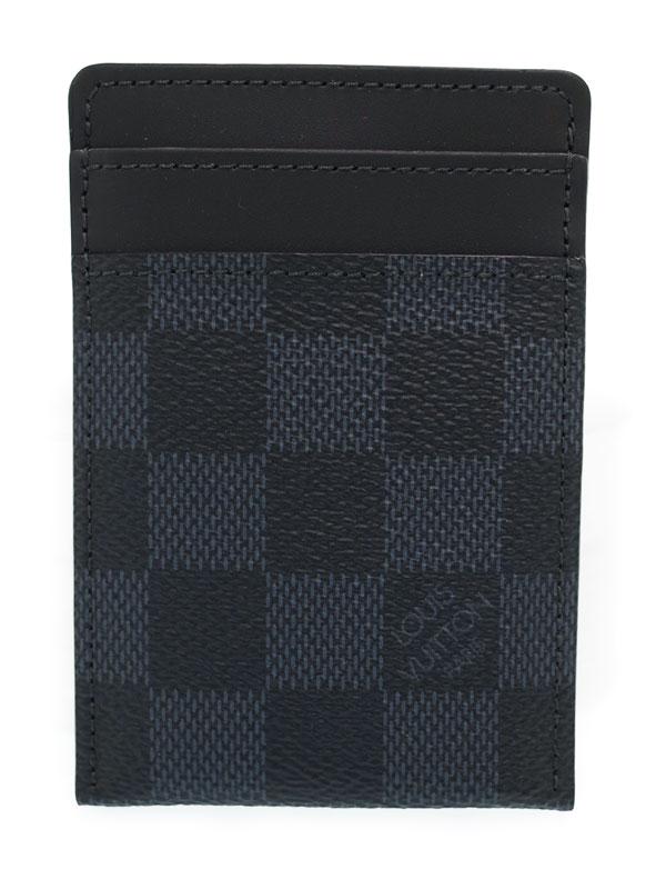 【LOUIS VUITTON】【マネークリップ】ルイヴィトン『ダミエ コバルト ポルトカルト パンス』N63217 メンズ カードケース 1週間保証【中古】