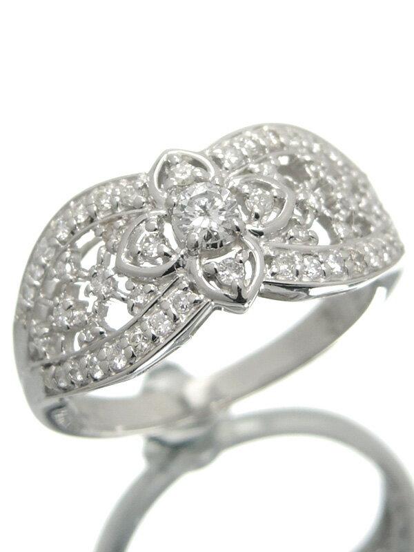 【仕上済】セレクトジュエリー『PT900リング ダイヤモンド0.30ct』7号 1週間保証【中古】
