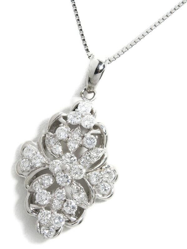 【仕上済】セレクトジュエリー『PT900/PT850ネックレス ダイヤモンド2.00ct』1週間保証【中古】