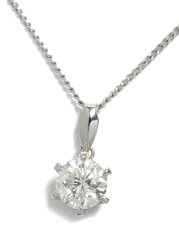 【ソーティング】セレクトジュエリー『PT900/PT850ネックレス ダイヤモンド0.753ct/K/VVS-2/GOOD』1週間保証【中古】