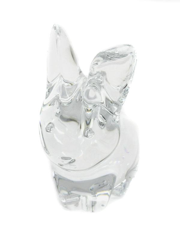 【Baccarat】【箱付】バカラ『ウサギ(ミニバニー) クリスタルオブジェ』2610095 置物 1週間保証【中古】