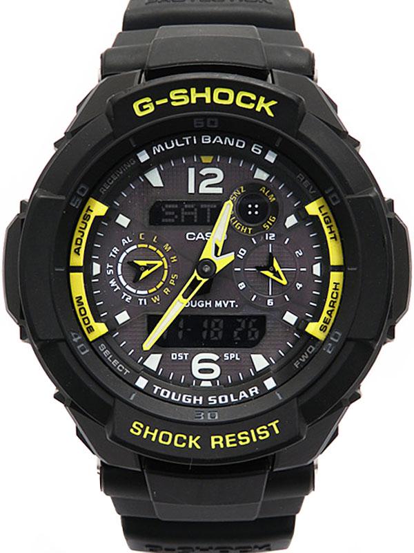 【CASIO】【G-SHOCK】カシオ『Gショック スカイコックピット』GW-3500B-1AJF メンズ ソーラー電波クォーツ 1週間保証【中古】