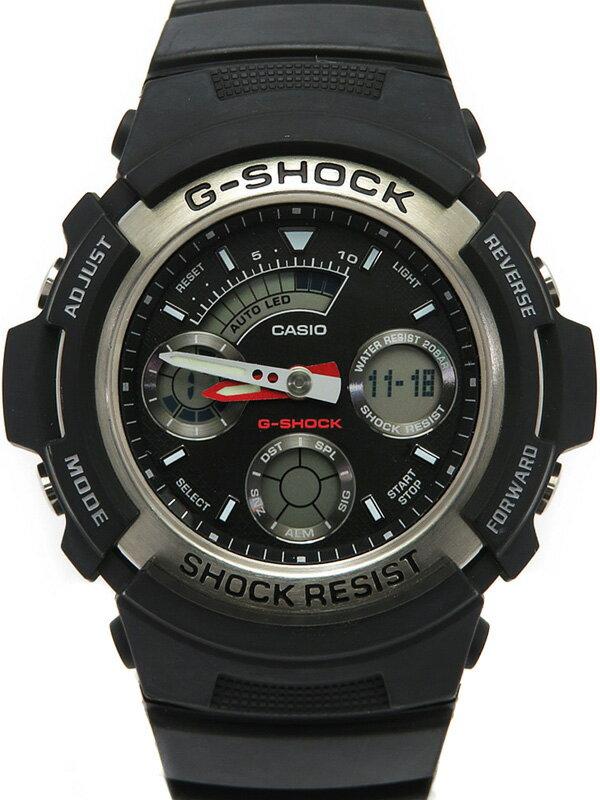 【CASIO】【G-SHOCK】カシオ『Gショック デジアナ』AW-590-1AJF メンズ クォーツ 1週間保証【中古】