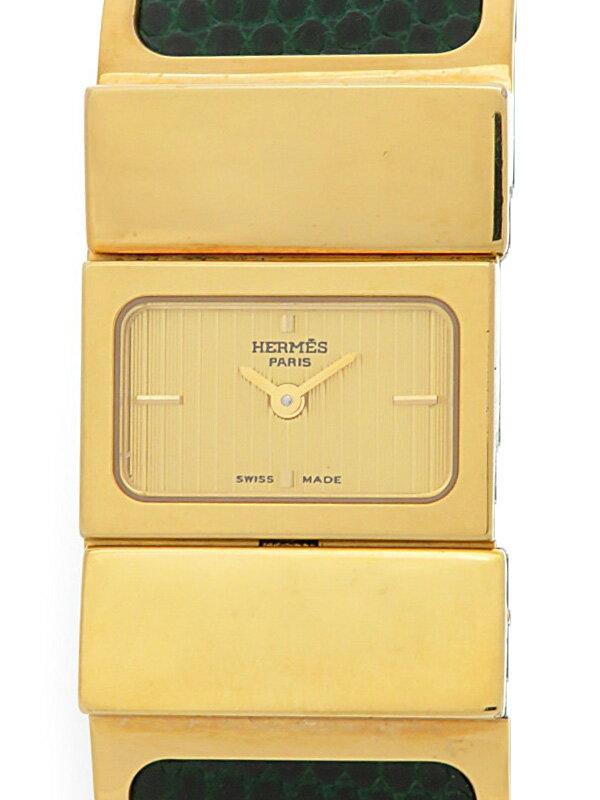 【HERMES】【電池交換済】エルメス『ロケ』L01.201 レディース クォーツ 1週間保証【中古】
