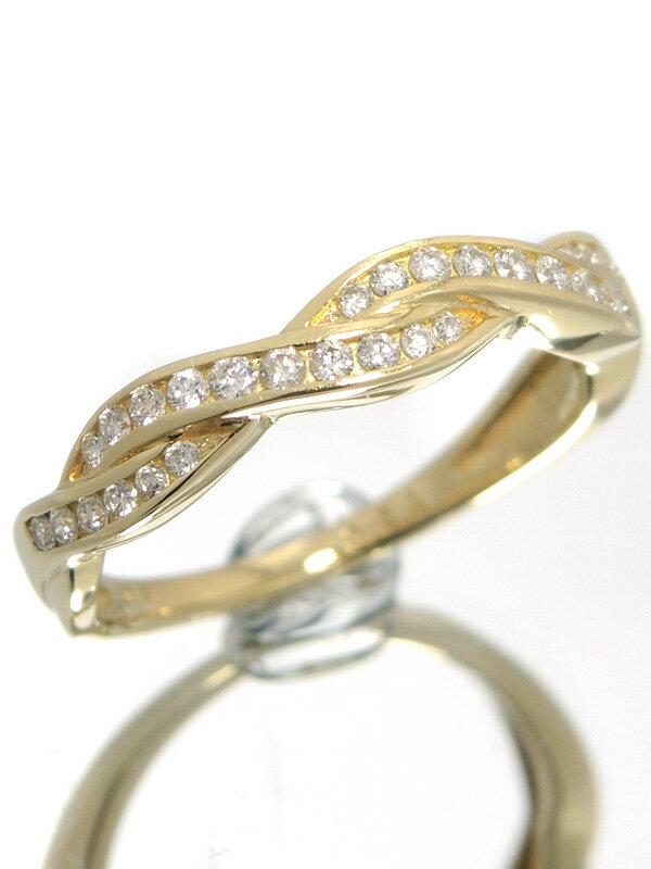 【仕上済】セレクトジュエリー『K18YGリング ダイヤモンド0.24ct』11号 1週間保証【中古】