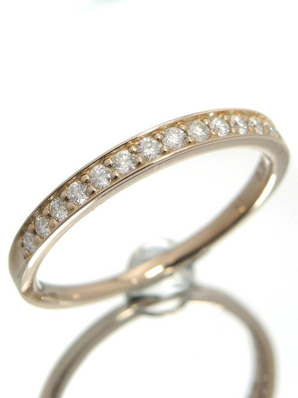 【仕上済】セレクトジュエリー『K18PGリング ダイヤモンド0.25ct ハーフエタニティ』18号 1週間保証【中古】