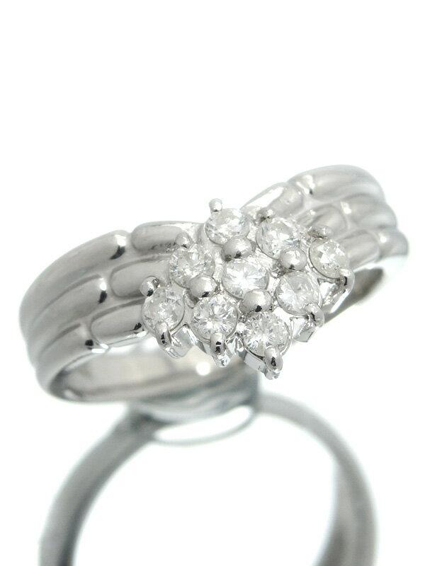 セレクトジュエリー『PT900リング ダイヤモンド0.32ct』11号 1週間保証【中古】