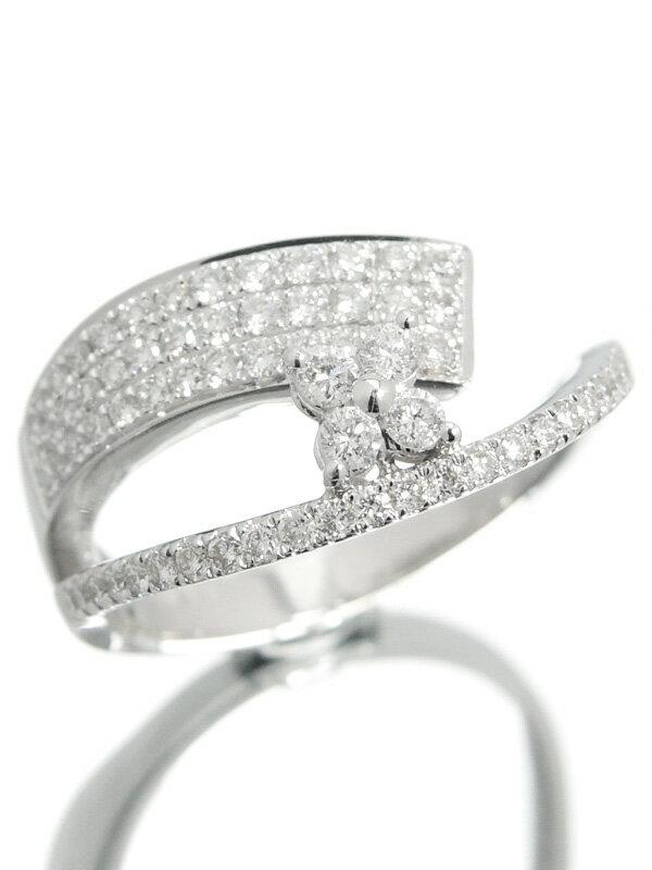【仕上済】セレクトジュエリー『K18WGリング ダイヤモンド0.59ct』13号 1週間保証【中古】