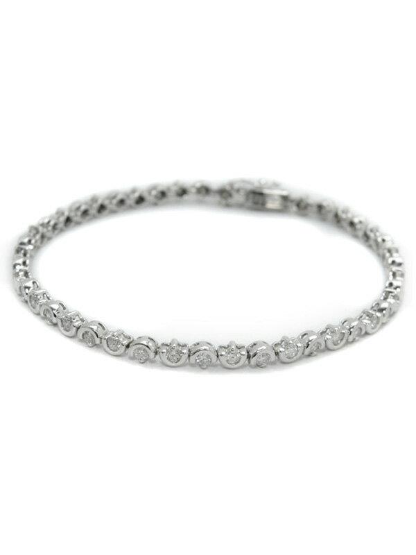 セレクトジュエリー『K18WGブレスレット ダイヤモンド1.60ct テニスブレス』1週間保証【中古】