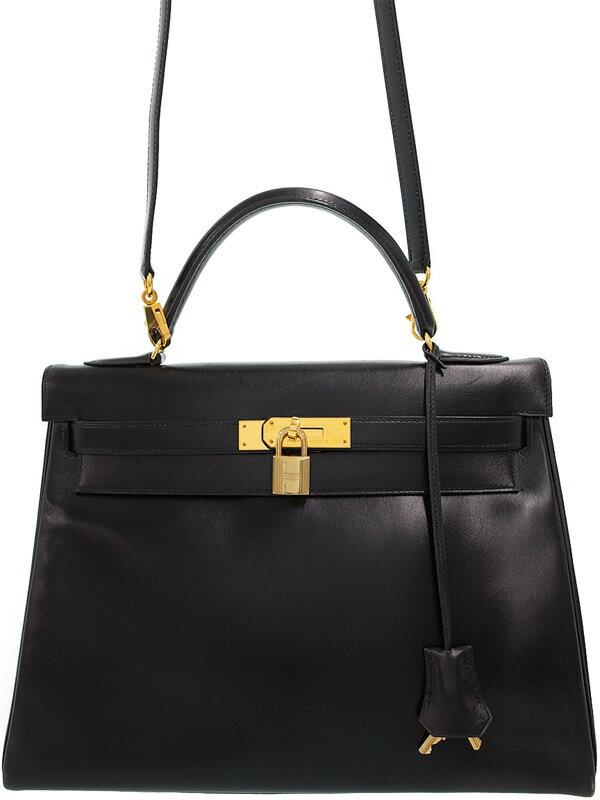 【HERMES】【ゴールド金具】エルメス『ケリー32 内縫い』V刻印 1992年製 レディース 2WAYバッグ 1週間保証【中古】