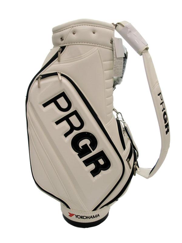 【PRGR】プロギア『プロコンパクトモデルキャディバッグ』PRCB-172 ホワイト 9.0型 ゴルフバッグ 1週間保証【中古】