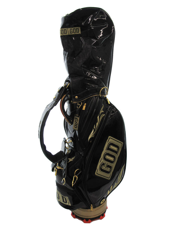 【MILLION GOD】【100本限定品】ミリオンゴッド『キャディバッグ』ブラック 2016年モデル ゴルフバッグ 1週間保証【中古】