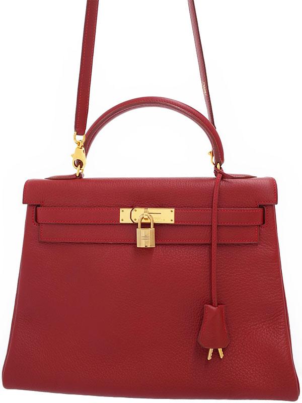 【HERMES】【ゴールド金具】エルメス『ケリー32 内縫い』C刻印 1999年製 レディース 2WAYバッグ 1週間保証【中古】