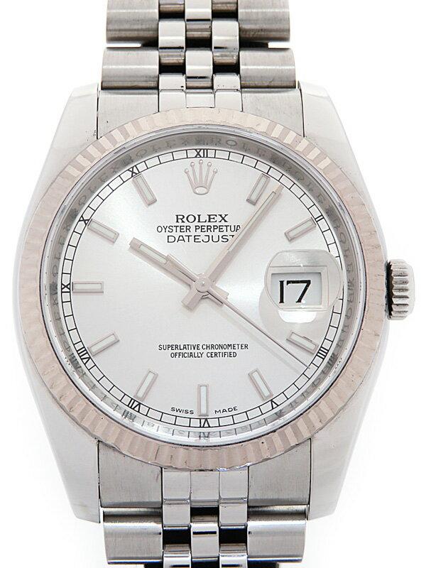 【ROLEX】ロレックス『デイトジャスト』116234 ランダム番 メンズ 自動巻き 12ヶ月保証【中古】