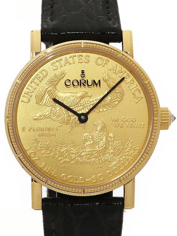 【CORUM】【世界限定100本】コルム『コインウォッチ 50周年記念モデル』CO82/02481 メンズ 自動巻き 6ヶ月保証【中古】