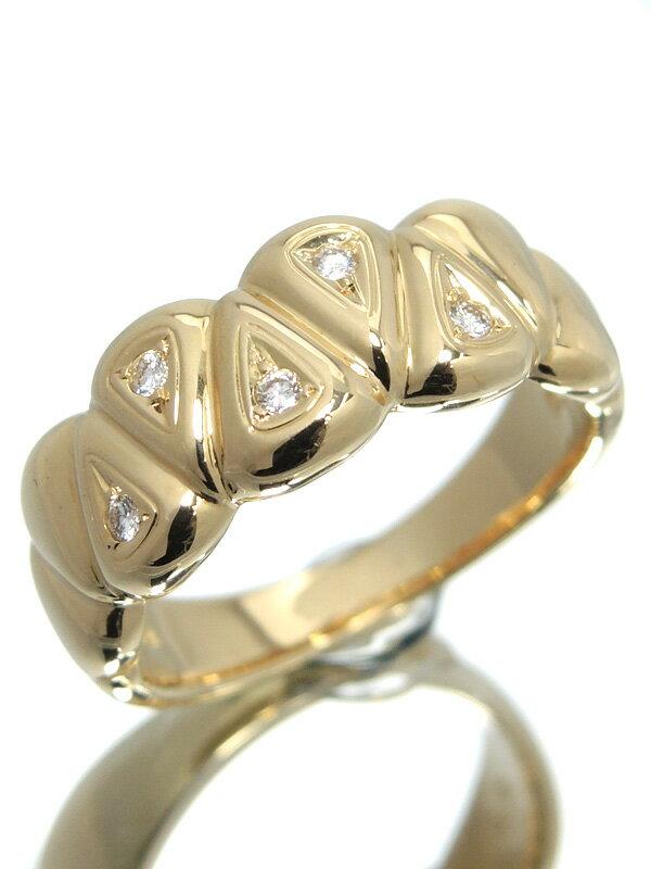【TASAKI】【仕上済】タサキ『K18YGリング ダイヤモンド0.06ct』11号 1週間保証【中古】