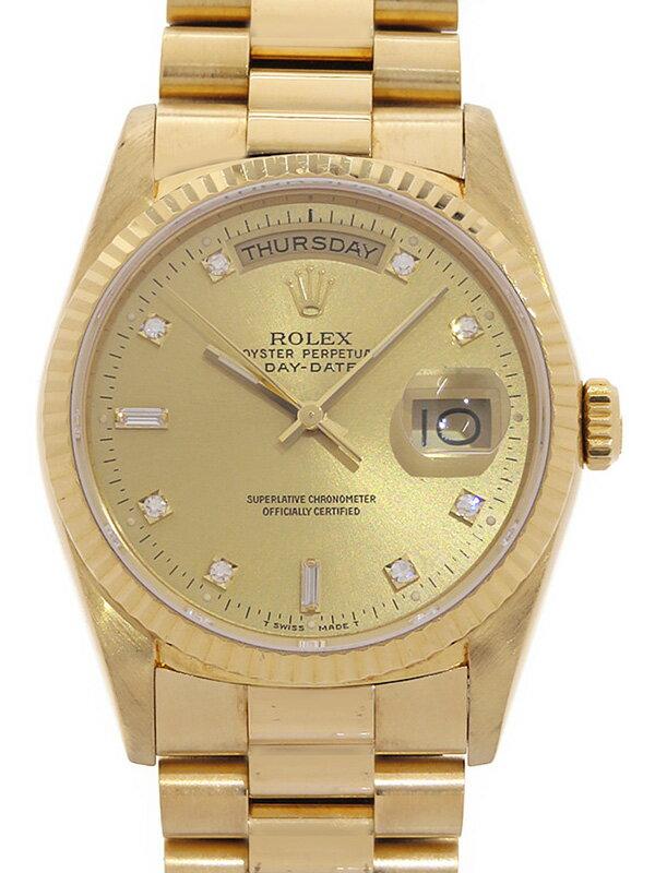 【ROLEX】ロレックス『デイデイト 10Pダイヤ』18238A R番'87年頃製 メンズ 自動巻き 12ヶ月保証【中古】