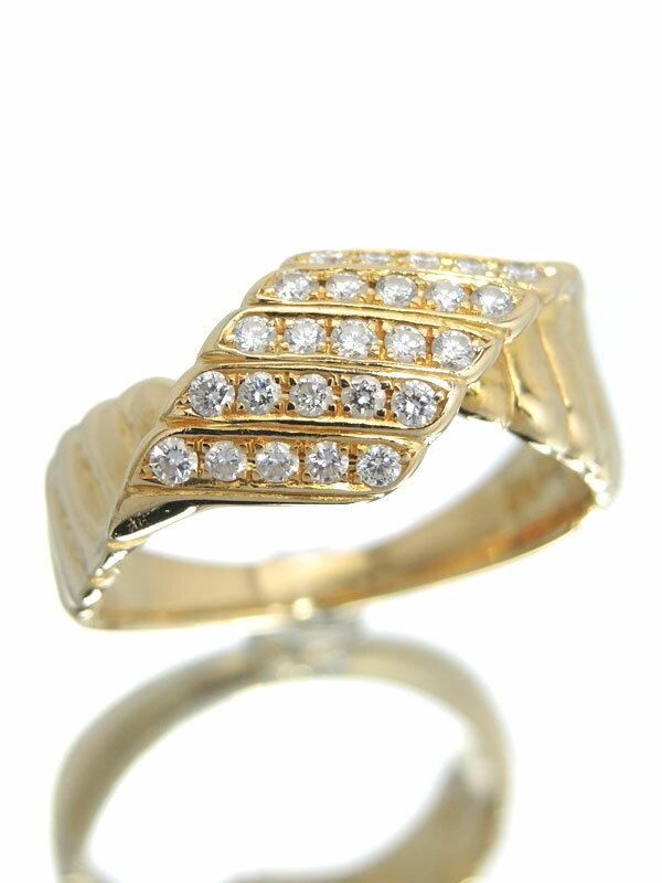 【POLA】【仕上済】ポーラ『K18YGリング ダイヤモンド0.25ct』13号 1週間保証【中古】