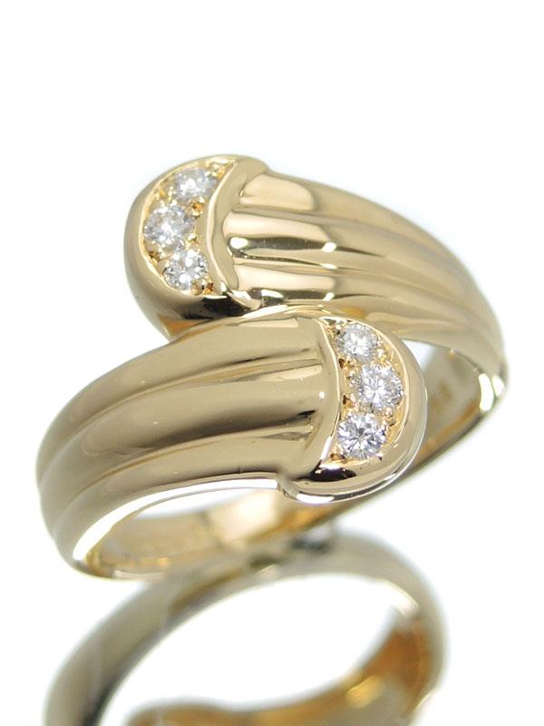 【POLA】【仕上済】ポーラ『K18YGリング ダイヤモンド0.14ct』13号 1週間保証【中古】