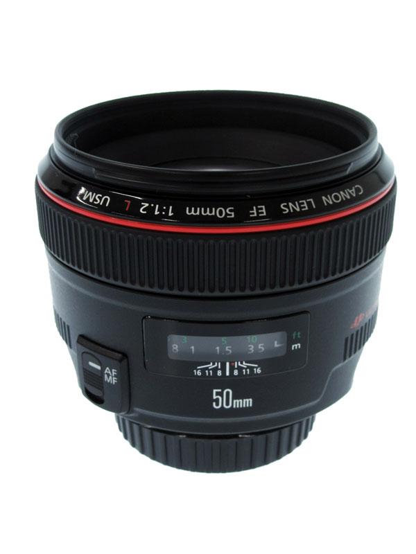 キヤノン『EF50mm F1.2L USM』EF5012LU 標準 単焦点 フルタイムマニュアル 一眼レフカメラ用レンズ 1週間保証【中古】