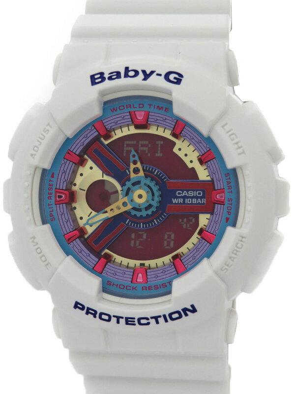 【CASIO】【Baby-G】【'17年購入】【美品】カシオ『ベビーG』BA-112-7AJF レディース クォーツ 1週間保証【中古】