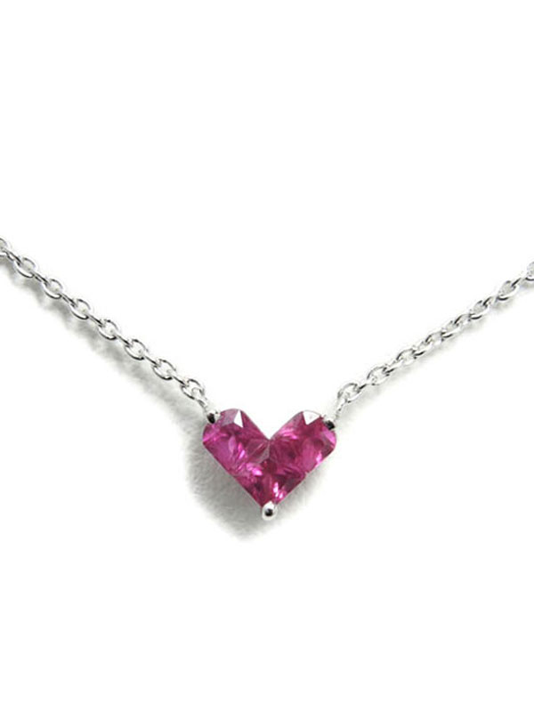 【Star Jewelry】【MYSTERIOUS HEART】スタージュエリー『ミステリアス ハート ネックレス』1週間保証【中古】
