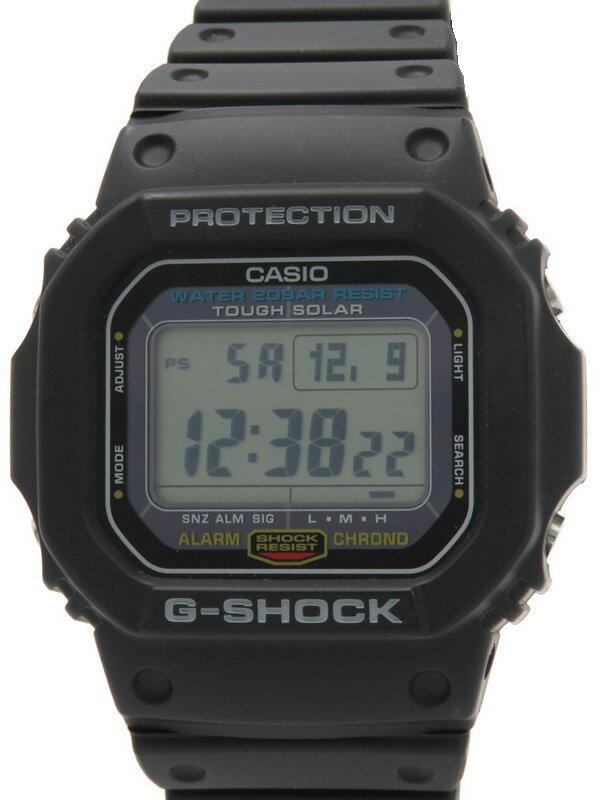 【CASIO】【G-SHOCK】【'17年購入】カシオ『Gショック』G-5600E-1JF ボーイズ ソーラークォーツ 1週間保証【中古】