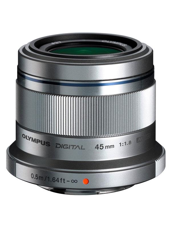 【OLYMPUS】オリンパス『M.ZUIKO DIGITAL 45mm F1.8』90mm相当 シルバー デジタル一眼カメラ用レンズ 1週間保証【中古】
