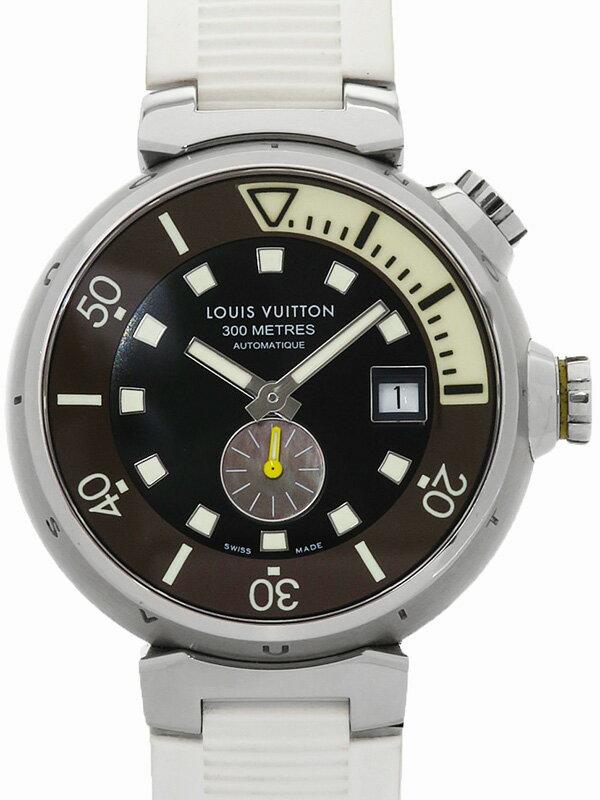 【LOUIS VUITTON】【OH済】ルイヴィトン『タンブール ダイビング』Q1031 メンズ 自動巻き 3ヶ月保証【中古】