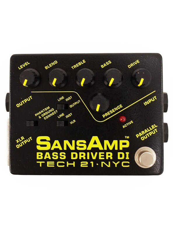 【TECH21】テック21『ベース用プリアンプ』SANS AMP BASS DRIVER DI エフェクター 1週間保証【中古】
