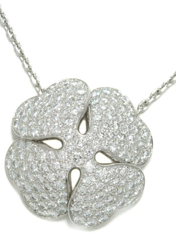 【Cartier】【2001年】【パヴェダイヤ】【メーカー仕上済】カルティエ『クローバー ダイヤモンド ネックレス』1週間保証【中古】b05j/h12SA