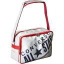 ショッピングコンバース 部活用&通学用バッグに♪CONVERSE/コンバース 8FエナメルショルダーMC1612053-1129 ホワイト/ネイビー