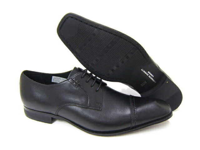 スラリと伸びるロングノーズで魅せる紳士靴!KATHARINE HAMNETT LONDON キャサリン ハムネット ロンドン 紳士靴 3967 ブラック ストレートチップ フォーマル 送料無料,